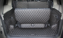 Best quality! Special trunk mats for Mitsubishi Pajero 7seats 2017-2007 waterproof boot carpets cargo liner mats,Free shipping