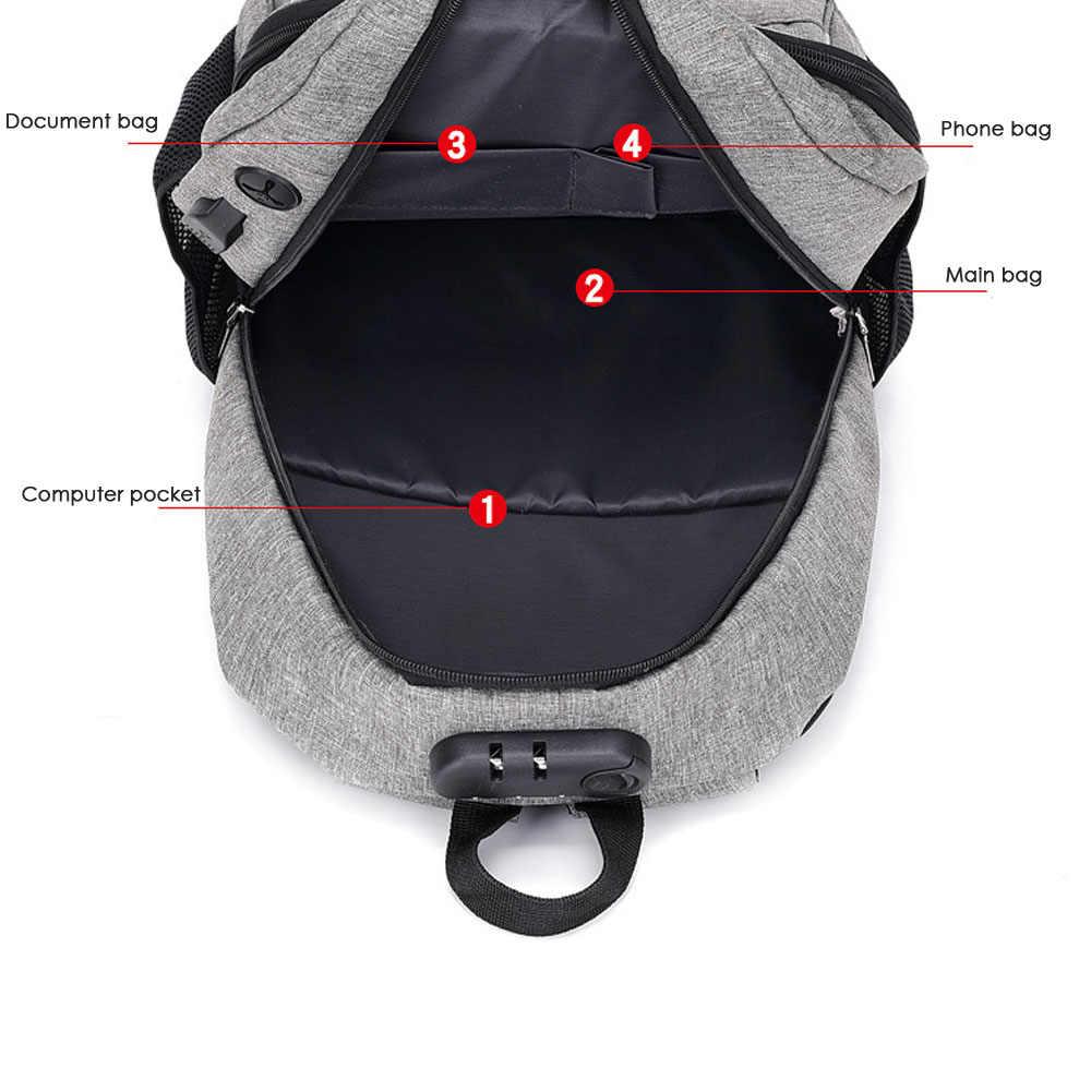 1 Pza para mujer, hombre, Anti-robo, USB para hombre con cargador, mochila impermeable, bolso de hombro, portátil, viaje bolso de Crossbody