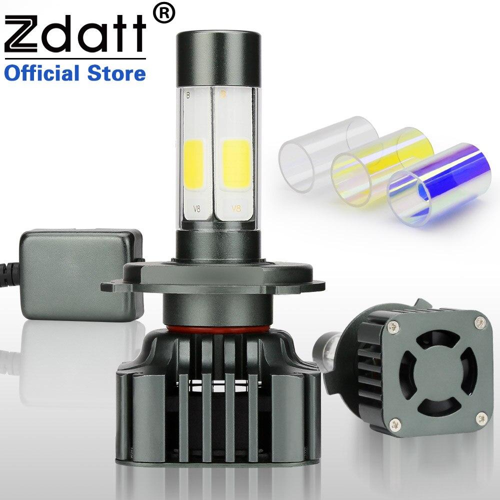 Zdatt 2Pcs H4 Led Bulb H7 H8 H9 H11 9005 HB3 9006 HB4 100W 12000LM Moto Auto Headlight Canbus COB Car Led Light 12V Automobiles