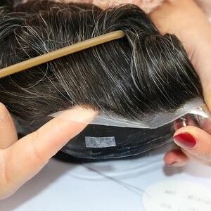Image 5 - Simbeauty toupee para homens, peça de cabelo fino preta, sistema de substituição para homens renda renda