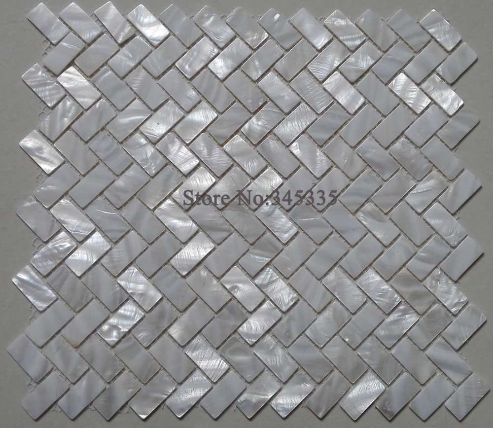 Aliexpress.com : Buy white shell mosaic tile mother of pearl ...