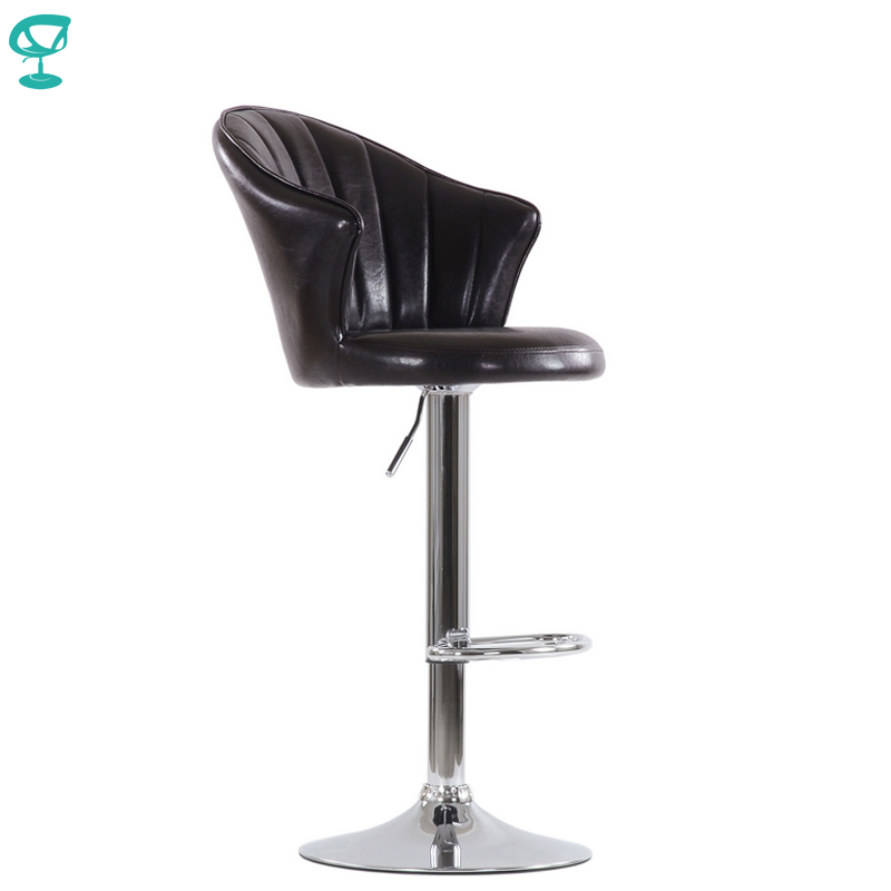 N31CrSpuBrown Barneo N-31 SPU Leather Kitchen Breakfast Bar Stool Swivel Bar Chair Shiny Brown Color Free Shipping In Russia