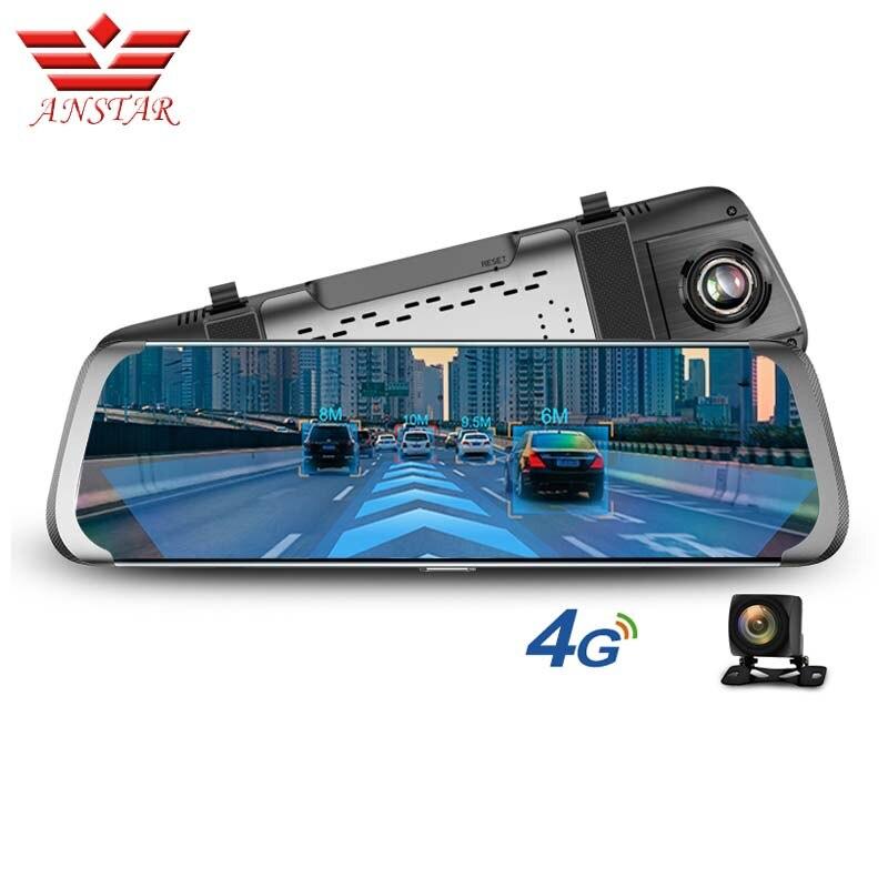 ANSTAR 4g ADAS Voiture DVR Android 10 IPS Flux Rétroviseur FHD 1080 p Dash Cam Caméra WiFi GPS Enregistreur Vidéo Registraire 2019