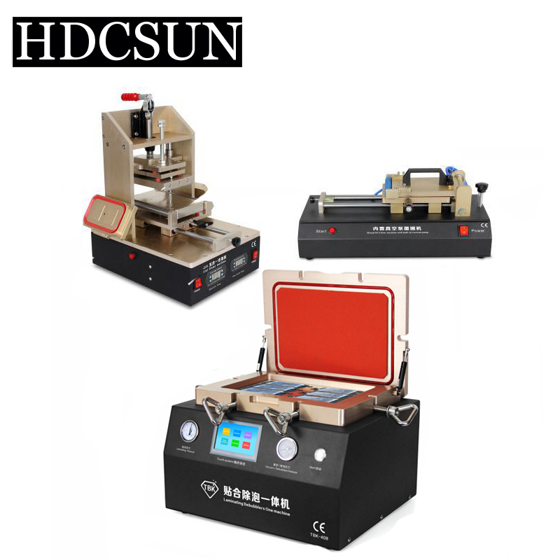 LCD Frame Laminator Automatic OCA Polarizer Film Laminating LCD Separator Glue Remover 12inch Vacuum Laminating Bubble Remover tbk lcd repair equipment oca vacuum laminator machine 3 in1 automatic oca film machine aluminum alloy automatic separator