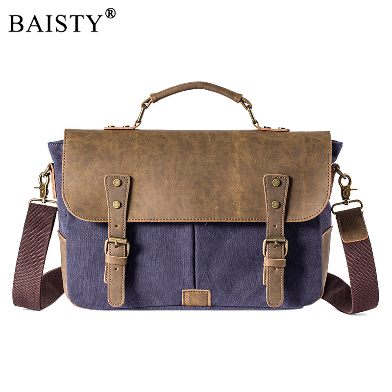 2017 New Crossbody Canvas Messenger Bags Men's Business Laptop Briefcases Man Casual Shoulder bag High quality male Fashion tote new arrival male 100% cotton classic canvas bag man fashion shoulder bag small messenger bag casual use high quality baok c5ac