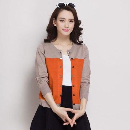 Neue 2016 schwarz strickjacke frühling und herbst strickjacke pullover weibliche lange-hülse dünne oberbekleidung kurze design lose cape