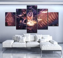 Modern Artwork Home Decor Living Room Or Bedroom 5 Piece Wall Painting Canvas Print DotA 2 Vengeful Spirit Angel Game Picture