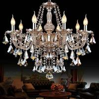 Vitrust lustres de cristais lâmpadas led lustre cristal k9 luminária sala estar jantar teto moderna casa luxo deco