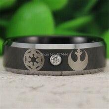 Envío gratis ygk joyería de las ventas calientes 8mm star wars alianza rebelde imperio imperial jedi mens tungsten anillo de bodas
