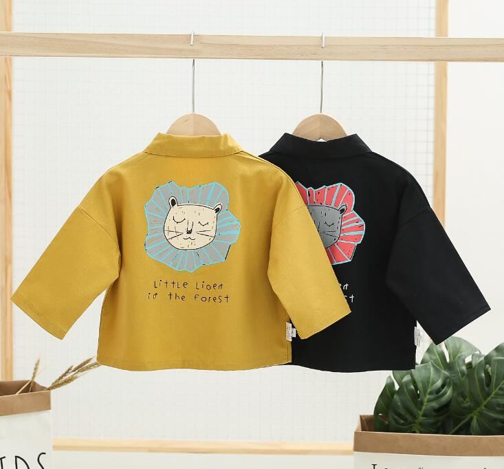 Coat Spring Girls Autumn Baby Cartoon New And Casual Male Cotton Foreign Thin Small Tide