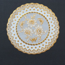European-style Placemat Fashion Pvc Dining Table Mat Disc Pads Bowl Pad Coasters Waterproof Cloth Slip-Resistant