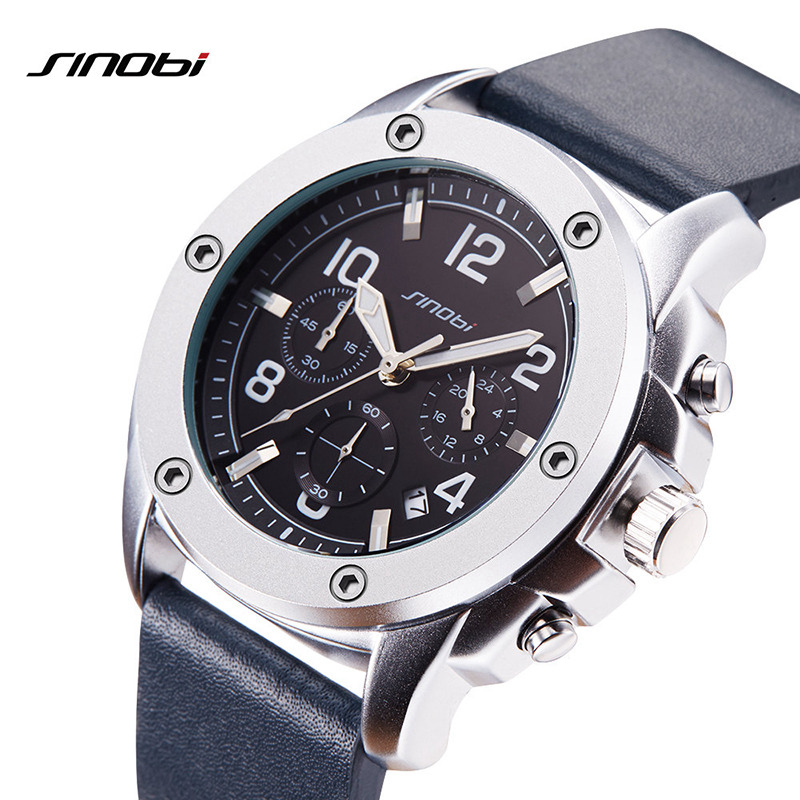 SINOBI 2018 Relojes Hombre Men Watches Men Locomotive Quartz Watch Sport Timer Waterproof Clock Glow Pointer Montre Homme sinobi original vogue new design wrist watches for men dress office waterproof men watch travel factory directly sale relojes
