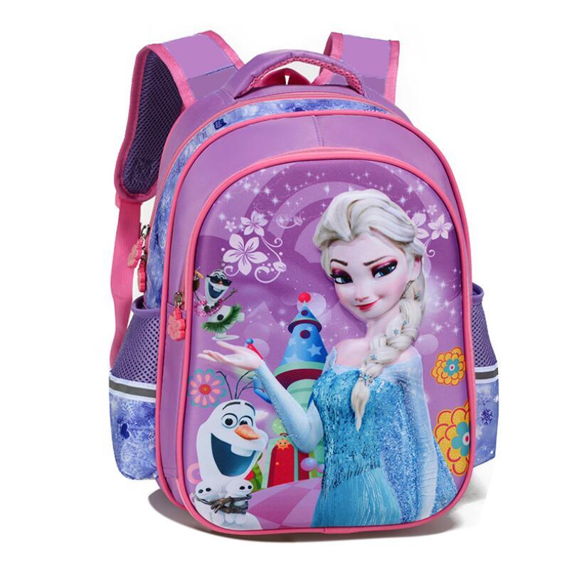 Sofia Cartoon Bags Of Pupils Grades 1-6 Shoulders The Burden Of The Children Kids School Boys Girls Toddler Backpack Satchel