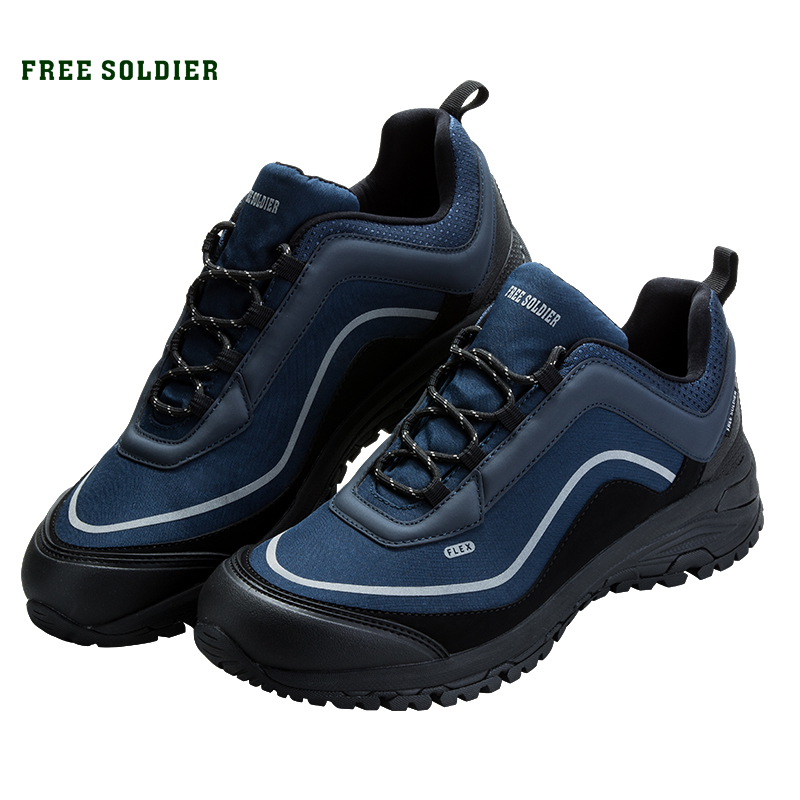 FREE SOLDIER outdoor sports tactical military shoes men wear-resisting non-slip for camping hiking breathable slip on men casual shoes