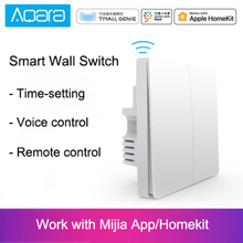 Оригинальный Xiaomi Aqara Mijia Умный дом свет управление один огонь провода ZigBee беспроводной ключ настенный выключатель через приложение для смартфона