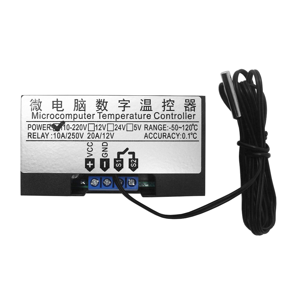 W3230 DC 12V 24V 110V 220V AC Digital Temperature Controller LED Display Thermostat With Heating Cooling W3230 DC 12V 24V 110V-220V AC Digital Temperature Controller  LED Display Thermostat With Heating/Cooling Control Instrument
