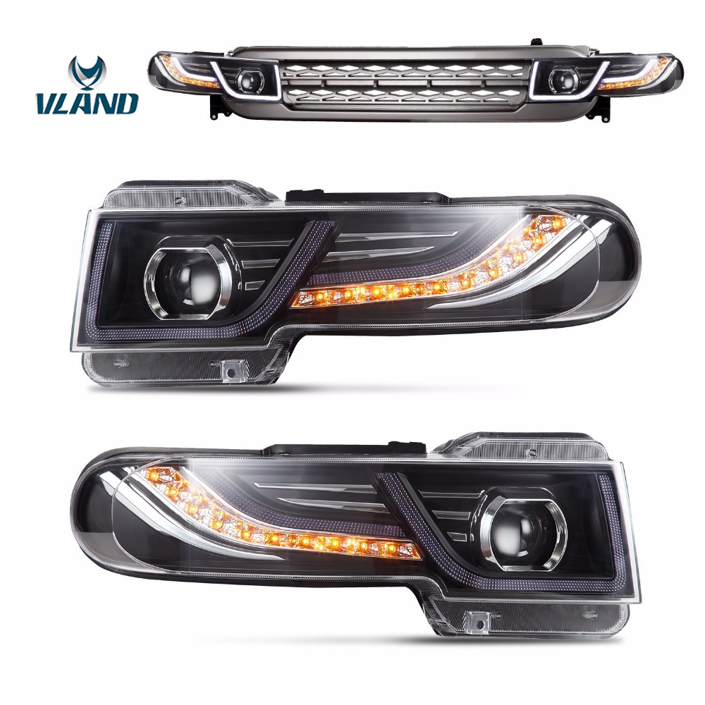 Vland Car Accessories Headlights For FJ CRUISER 2007 UP Led Headlight Car Light Assembly Head Lamp
