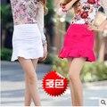 2015 новое прибытие женские весна лето denim оборками труба юбки женская мода ковбой юбка