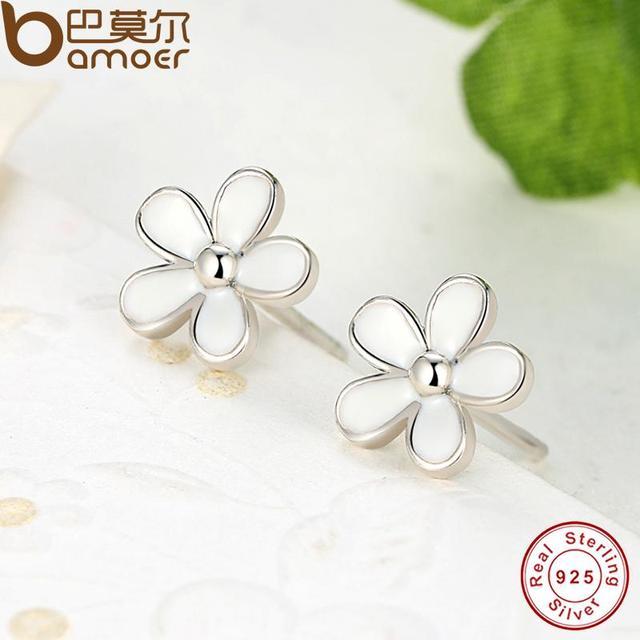 Sterling Silver Darling Daisy Stud Earrings