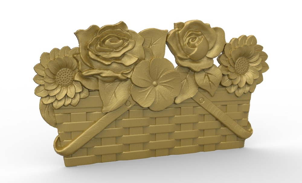 Flower d model relief stl for cnc router carving
