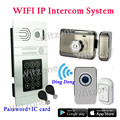 2016 Remarkable Wireless WIFI Password/IC Card Access IP Video Doorphone Intercom System via IOS/Android Mobiles&Tablets Control