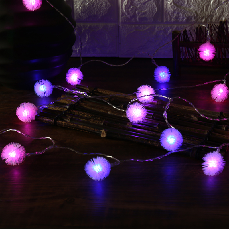 2018 LED Christmas Fairy String Light Dandelion Shaped Curtain Lamp Party Wedding Outdoor Decoration Lights