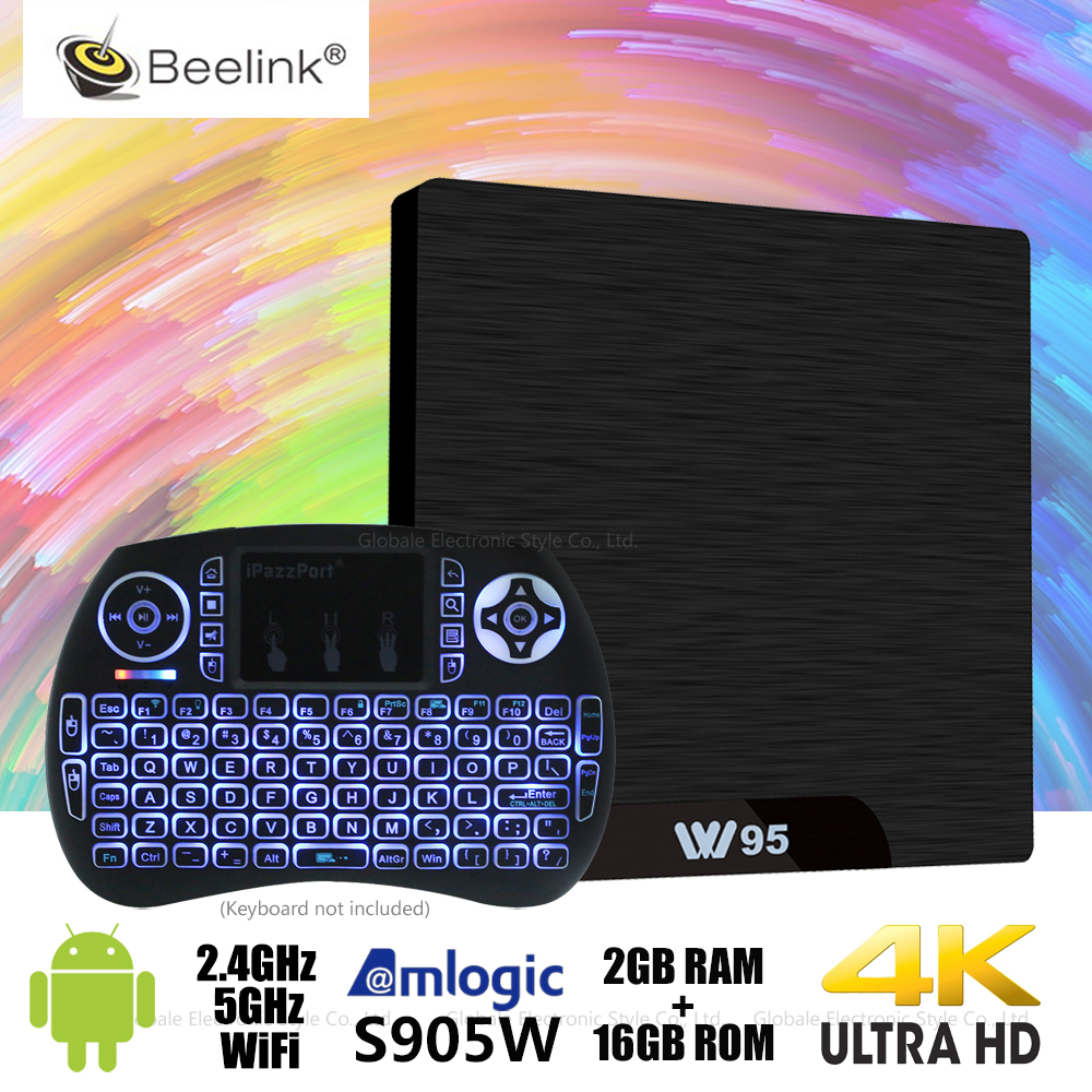 W95 Android TV Box Amlogic S905W Quad Core 2GB 16GB Set Top Box WiFi 4K Set-top Box HDMI Media Player PK X96 mini TX3 mini