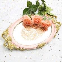 Rococo Princess style rose silk ribbon romantic bow-knot pink tray