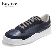 Kaypsre Spring/Autumn Fashion low-help cow leather casual shoes men's lace-Up breathable