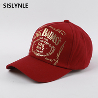 SISLYNLE 2017 Fashion Spring Cotton Bronzing Cap Baseball Cap Snapback Hat Summer Cap Hip Hop Fitted
