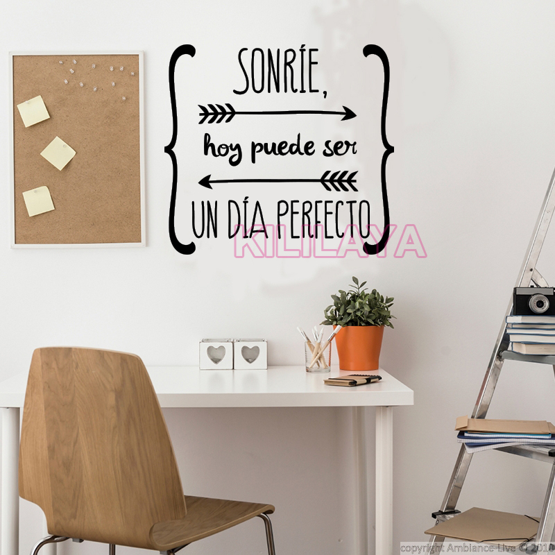 Ambiance Wall Stickers wall stickers spanish quote vinyl walls decals poster wall art home
