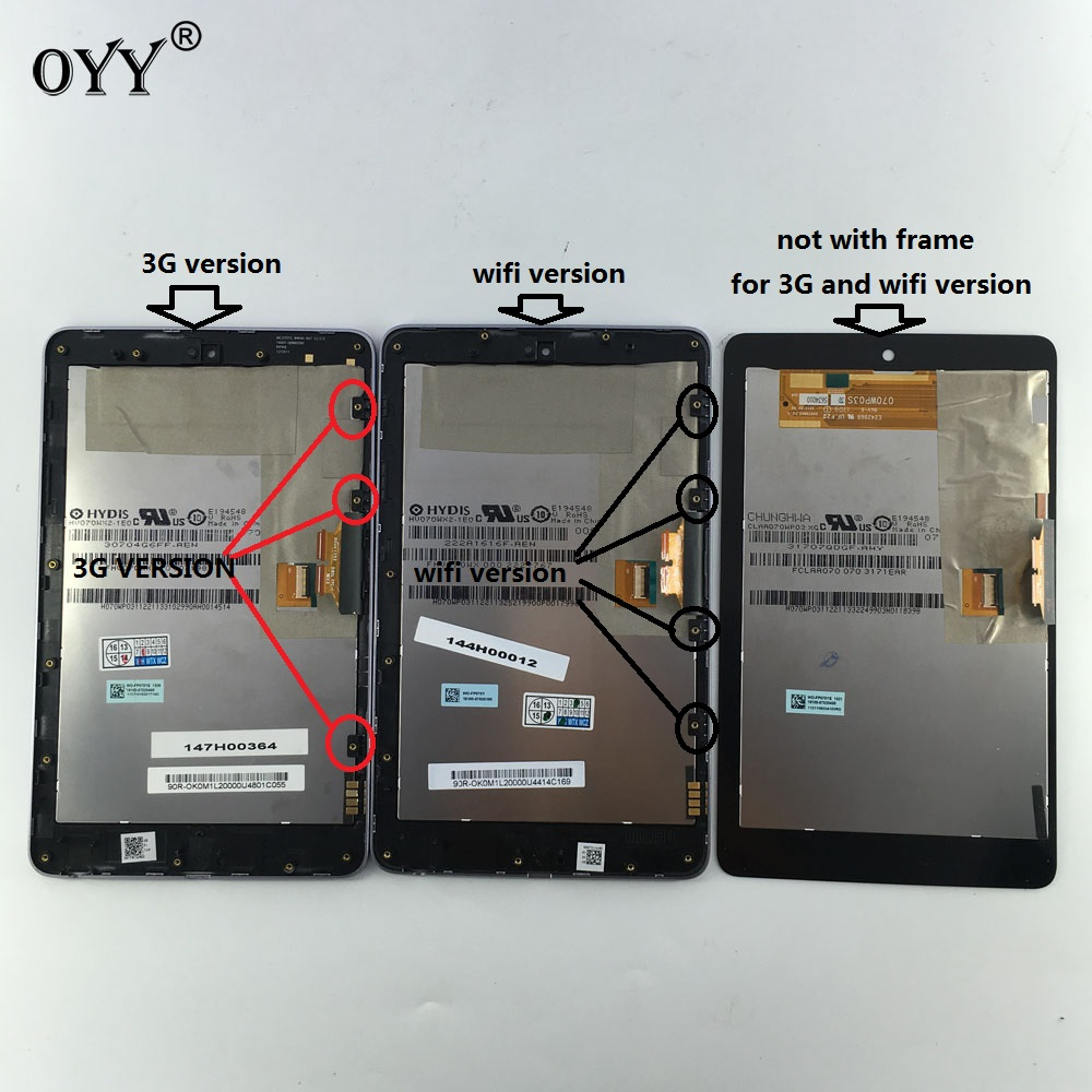 LCD Display Touchscreen Digitizer Glass Assembly für ASUS Google Nexus 7 1st Gen nexus7 2012 ME370 ME370T ME370TG nexus7c