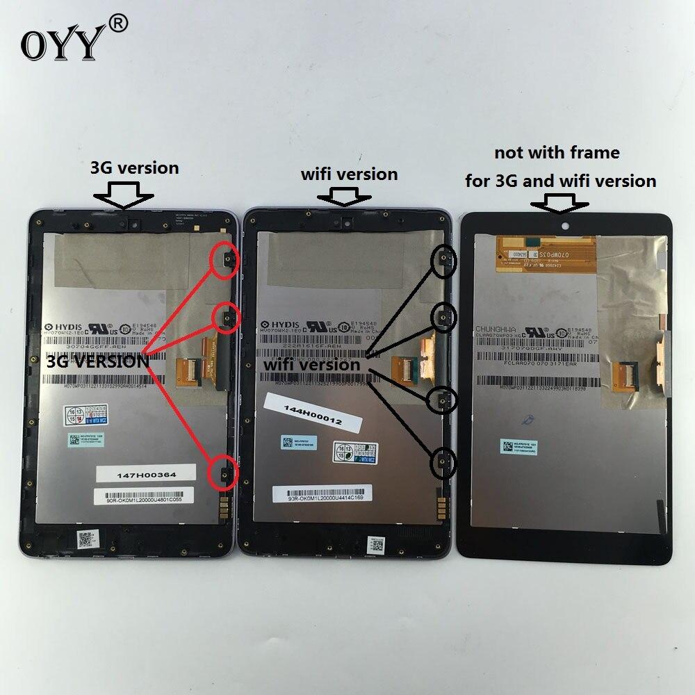 Pantalla LCD pantalla táctil digitizador de vidrio asamblea para Asus Google Nexus 7 1st gen Nexus 7 2012 me370 me370t me370tg nexus 7c