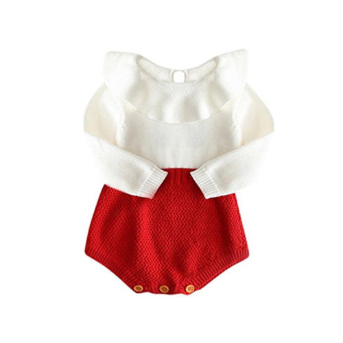 Pudcoco infant Newborn Baby Girl   romper   Wool Blend Baby jumpsuit autumn winter Warm Knit Sweater   Rompers   sweet baby girl clothes