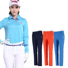 PGM Golf Lady Clothes Women Trousers Hight Elasticity Sportwear female Slim Pant Trouser pencil Golf Tennis Pant Solid XS-XL