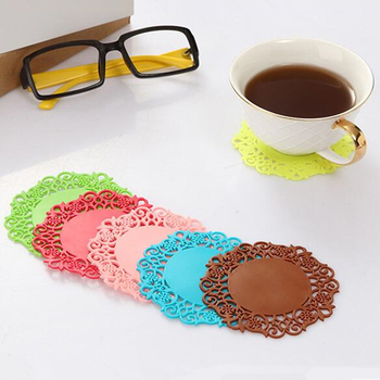 9cm 10cm mixed colors pvc drink table cup coaster pad set 100 pcs per lot