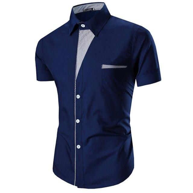 camisa masculina 2017 Summer men Shirt Mens Short Sleeve Shirts Casual Formal Slim Fit Shirt Top Masculino clothing camisetas
