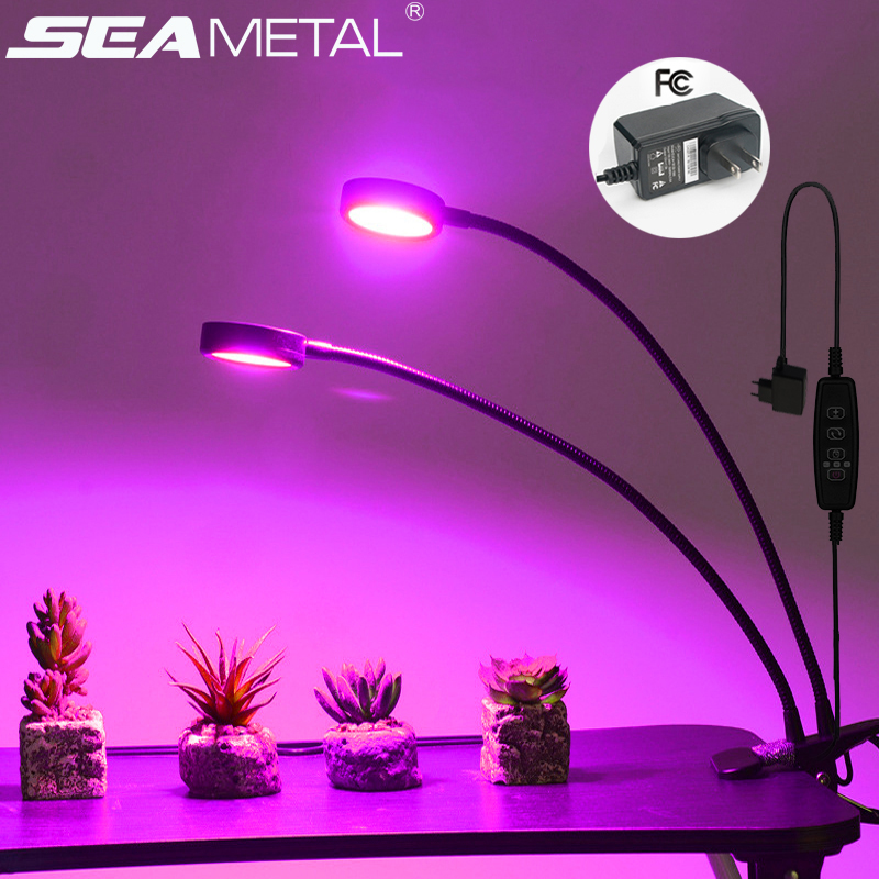 LED Grow Light 18W Phyto Lamps For Plants Fitolamp Led Full Spectrum Lamp For Seedlings Growing Lamp With Controller Indoor Grow