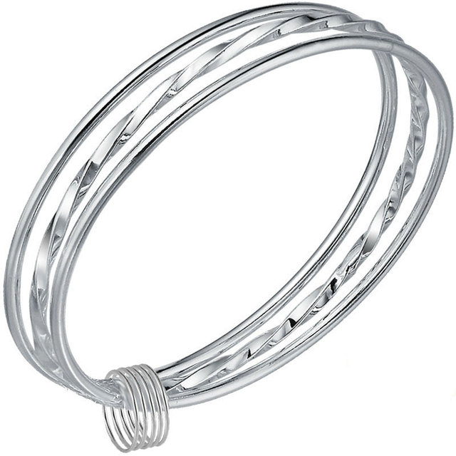 Robira 999 Sterling Silver Bangle For Women Creative Simple Pure Silver Jewelry National Trend Fine Silver Bracelets Best Gift