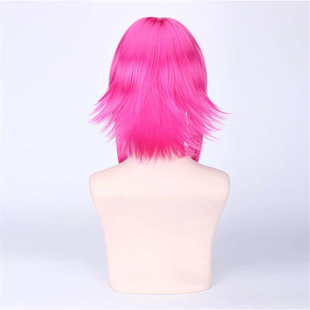 Косплей Новое поступление Игра LOl Annie персонаж парики 45 см Розовый Красный термостойкие синтетические волосы Perucas Косплей парик женские волосы
