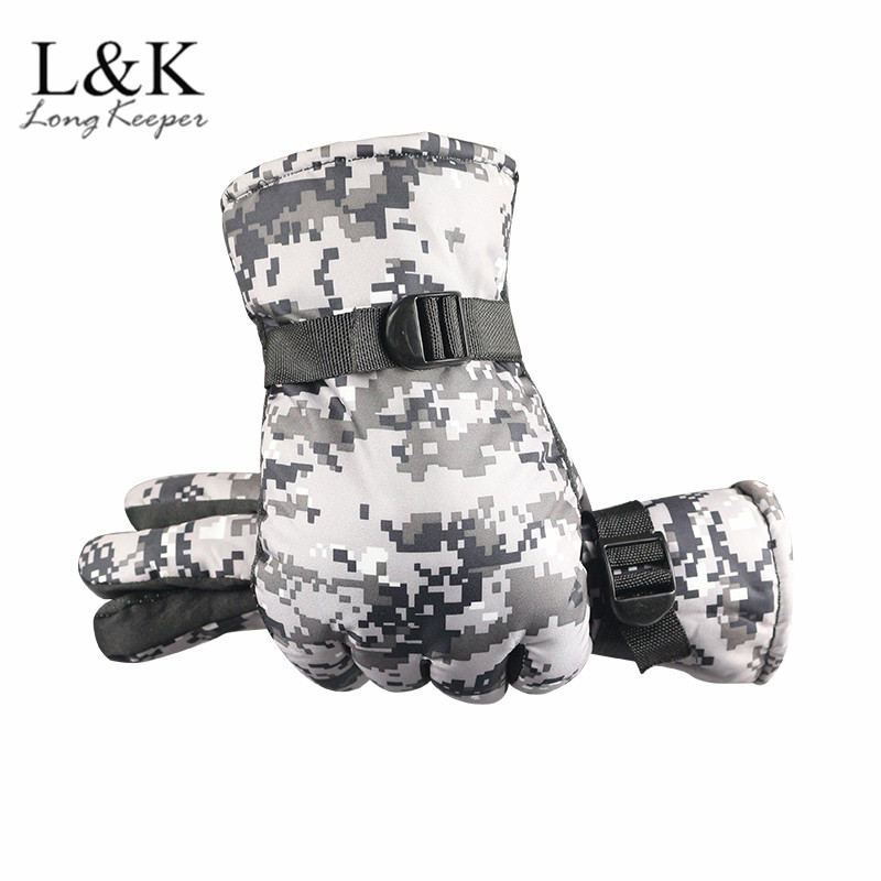 Tactical Military Gloves Men Camouflage Winter Warm Gloves Hand Protection Camo Wrist Mittens For Mens Women Sport Hunting Glove