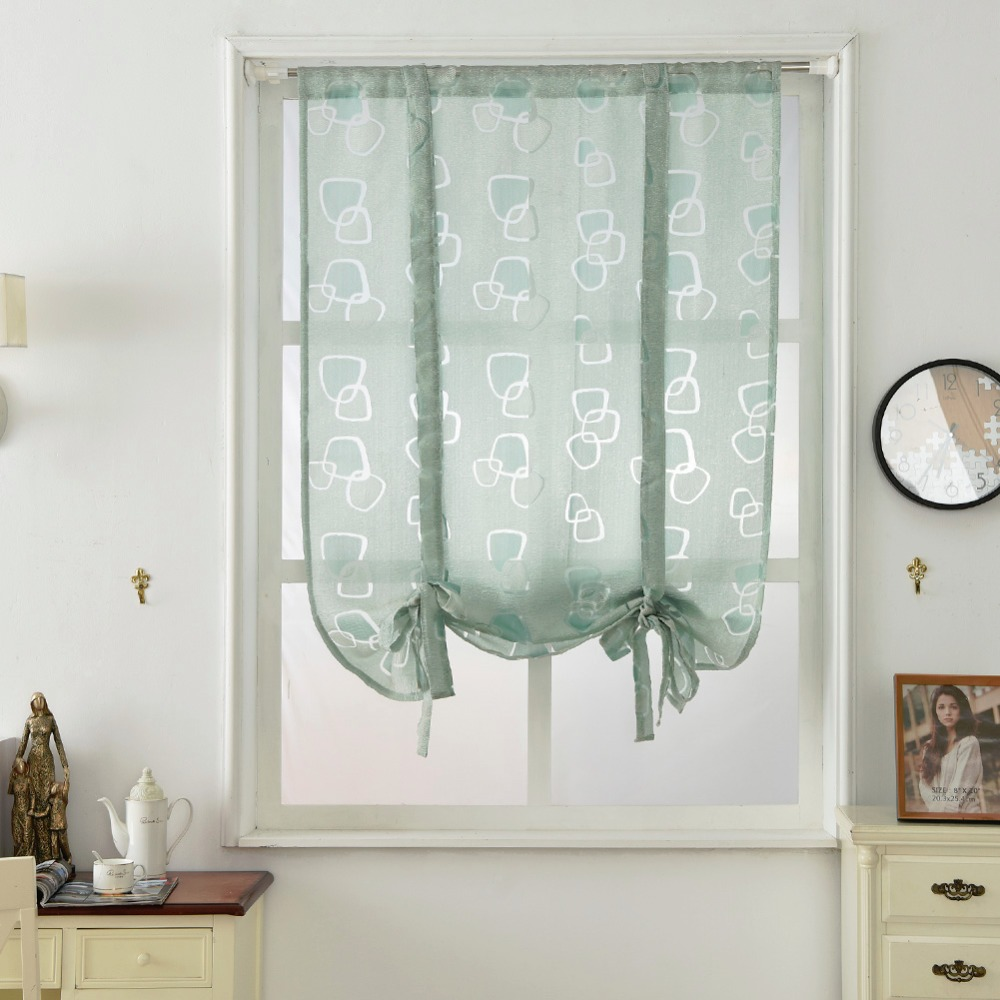 Kitchen short curtains kitchen roman blinds jacquard curtains