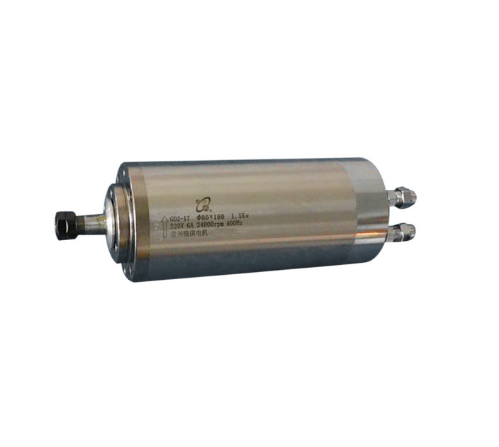 1.5kw refrigerado a água do motor spindle collet ER11 D80mm L180mm AC220V para cnc máquina de gravura