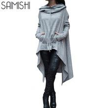 Saimishi 10 Colors Women Long Sleeve Sweatshirts Autumn Ladies Hoodies 2017 Fashion Big Pocket Pullover Female Casual Loose Tops