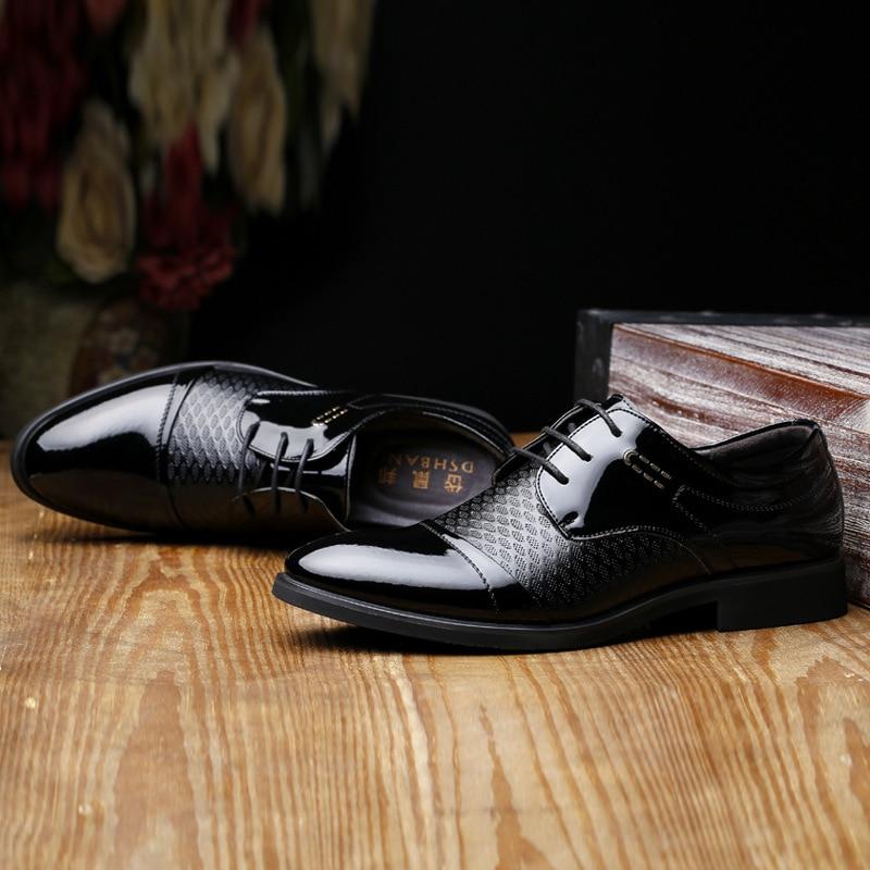 Respirant Pointu En Automne Mode Lace Chaussures Cuir Mariage Printemps Pour Bout Repas Oxford Up brown Black Hommes Robe Formelles D'affaires Nouveau De X8wxqngzS