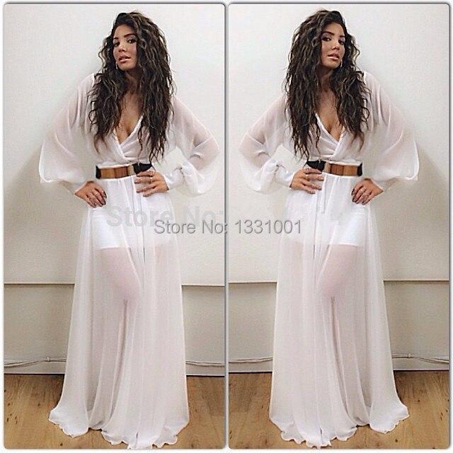 servizio eccellente outlet in vendita ottenere a buon mercato Bianco manica lunga prom dress 2015 abiti da ballo di classe ...