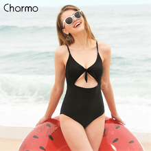 Charmo 2019 new Monokini Womens One-Piece Swimsuit Hollow-Out Swimwear Tied From Bathing Suit Bow-Knot Suits