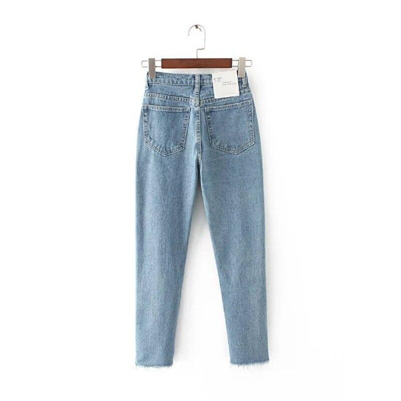 Women s Tassel Harem Pants High Waist Jeans Vintage Female Denim Pencil Pant Plus Size Ankle