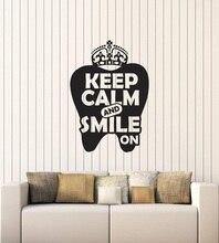 Della parete del vinile applique cita ufficio interior sticker murale 2YC10 dentista stomatologia dentale
