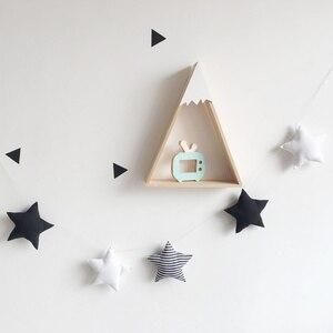 Настенные украшения для детской комнаты в скандинавском стиле со звездами, гирлянды ручной работы для детской комнаты, реквизит для фотосъемки